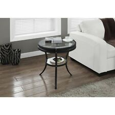 Modern End Table Black Sofa Accent Glass Top Tables Side Living Room Furniture
