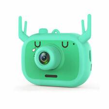 """Mini Kids Cartoon Digital Camera 2.0"""" HD Include TF 16GB storage card green"""