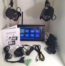 """2 sans fil CCTV Caméra Kit Moniteur LCD 7"""" DVR Motion Detect Accueil Système de sécurité"""
