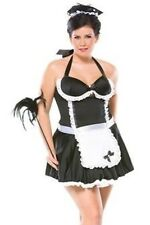 RETRO FRENCH MAID ADULT HALLOWEEN COSTUME WOMEN'S PLUS SIZE 1X/2X