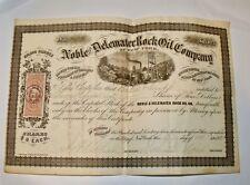 New York & Havre Steam Ship Company 1866 Antique Stock Certificate Samuel Packer