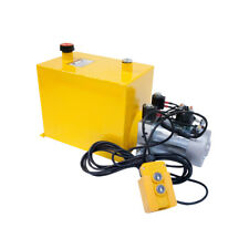12 Volt Hydraulic Pump for Dump Trailer - 15 Quart Steel - Double Acting