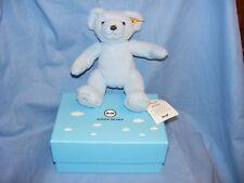 Steiff Teddy Bear My First Steiff Blue 241369 New Baby Boy Gift Boxed Present