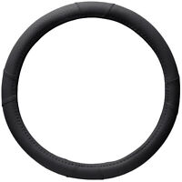 Universal Car Auto Steering Wheel Cover PU Leather for 15 in Truck Van SUV Black