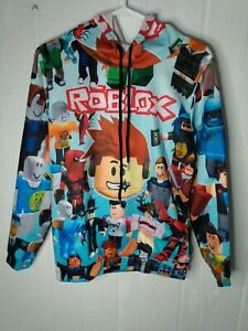 Roblox Characters Big Boys Pullover Hoodie Sweatshirt Size Large L 14/16 NEW