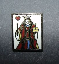 SALE Realistic King of Hearts Playing Card Enamel Metal Button #1128
