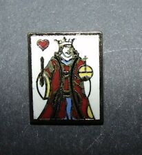 New listing Sale Realistic King of Hearts Playing Card Enamel Metal Button #1128