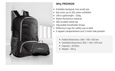 PROIRON Ultra Lightweight Small Backpack 20L Foldable Small Rucksack for Walking
