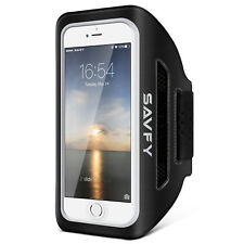 iPhone 7/7 Plus Sport Running Armband Case Jogging Gym Arm Band Pouch Holder AU BRAND SAVFY - Black up to 5.0 Inch