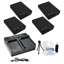4x EN-EL12 Replacement Battery & USB Dual Charger f/Nikon S-1000pj 1100pj 1200pj