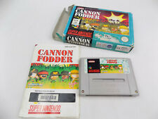 Boxed SNES Super Nintendo Cannon Fodder - PAL - Free Postage