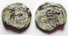 Zurqieh -Aa8686- Byzantine. 5th-6th century Ad. Lead seal (21 mm, 7.71g). Lion a