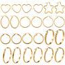 316L Stainless Steel 18K Gold Plated Women's Ear Hoop Earrings Fashion Jewelry
