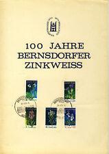 DDR - GEDENKBLATT A4 - 100 JAHRE BERNSDORFER ZINKWEISS 1970 (11878/257N)