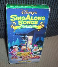 Disney's Sing Along Songs - Very Merry Christmas Songs (VHS, 1997)