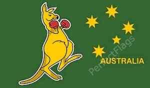 KANGAROO AUSTRALIA FLAG - AUSSIE BOXING ANIMAL - Size 3x2, 5x3, 8x5 Feet