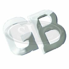 GB LETTERS CHROME BADGE