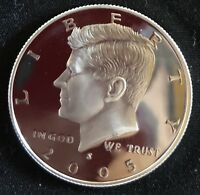 2005 S Gem Proof 90% Silver Kennedy Half Dollar-DCAM. Immaculate Coins!!!!