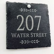 Rustic Slate House Sign Gate Plaque Door Number Personalised Name Plate NEW