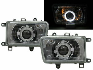 Hilux Surf MK2 92-95 Guide LED Halo Projector Headlight Chrome for TOYOTA LHD