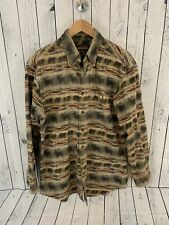 VTG Woolrich Chamois Long Sleeve Button Front Shirt Aztec Moose Large Flannel S3