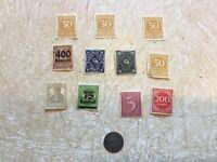 1917 5 PFENNIG STADT  Gemeinden GERMANY WWI  COIN  11 Stamp UNC 1917 -1930's Lot