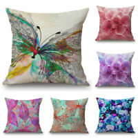 Multicolorred Home Cotton Linen 18inch Car Sofa Pillow Case Waist Cushion Cover