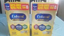 Enfamil NeuroPro Baby Formula Powder Refill Pack 31.4 oz (2 Pack) Exp 08/2022