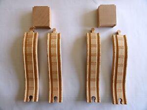 Brio 2 Riser Blocks and 4 Pieces of Ascending Track