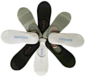 Skechers Ladies No Show Socks 8 Liner Non-slip heel grip Active Sports Sock 5-9