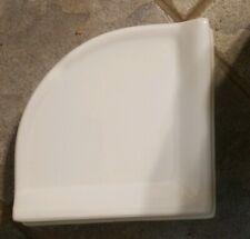 "Bath Accessory Shower Corner Shelf White Ceramic Thinset Mount 8-3/4"" x 2-5/8"""