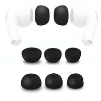 6pc Silicone Replacement Ear Tips Buds For Apple Airpods Pro Headphones Black