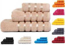 Luxury Pure Egyptian Cotton Towels Stripe Satin Towels 550gsm Super Pile Cotton