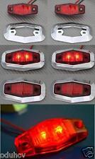 6x LED hinten Rot Chrom Rahmen Begrenzungsleuchten 24V für Lastwagen MAN DAF