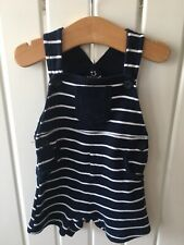 Baby Boy's Clothes 3-6 Mths - Navy Striped Shortie Style Dungarees Cute!!!