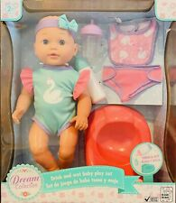 "Dream Collection Baby Doll Drink and Wet Baby Play Set 14"" Baby Doll With Bottle"