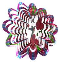 WorldaWhirl Whirligig 3D Hummingbird Wind Spinner Stainless Kinetic Yard Twister