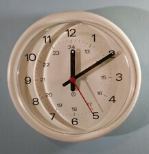 "Peter Pepper Products 12"" Electric Wall Clock Model No. 382A Soft White GUC!"