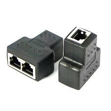 RJ45 Splitter Sdoppiatore Cavo Rete Ethernet Internet LAN Adattatore Duplicatore