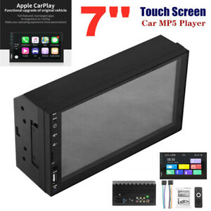 """7"""" Universal HD Touch Screen Carplay Module USB Car MP5 Player For iOS/Android"""