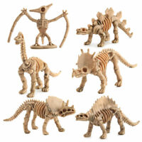 12pcs/set Realistic Dinosaur Fossil Action Skeleton Figures Toys Kids Gift