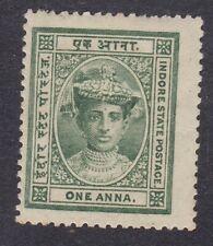 India Indore Holkar 1904 to 1920 - 1A Green - SG11 -  Mint Hinged (E25A)