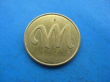 (E) M  CAR WASH GOLD COLOURED TOKEN COIN