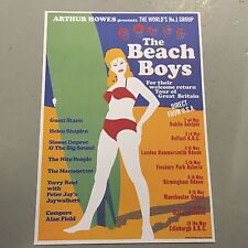 THE BEACH BOYS - CONCERT POSTER U.K. AND IRELAND TOUR   (A3 SIZE)