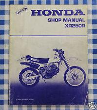 BB 62KA600 Manual De Taller Honda XR 250 R Impresión 1981