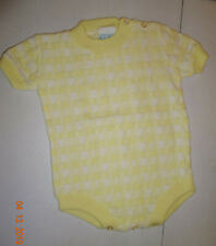 Vintage Acrylic One Piece Baby Sweater - Cradle Crest - Size Large