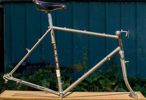Vintage Trek 720 Touring Bike Frameset Campagnolo Reynolds 531 Brooks Pro Saddle