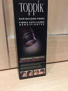 TOPPIK Hair Building Fibres 12g MEDIUM BROWN Thicker Fuller Hair FREEPOST