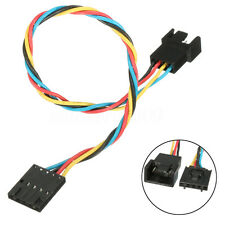 5 pin to 4 pin Computer Fan Connector Adapter Convertion Extension Cable For Del