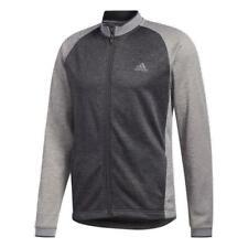 Adidas Golf Poids Moyen Texturé Veste (Gris Trois - Grand )